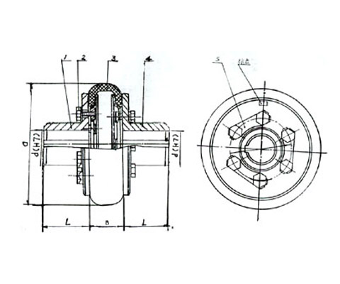 HL型弹性柱销联轴器-betway必威app 官网联轴器