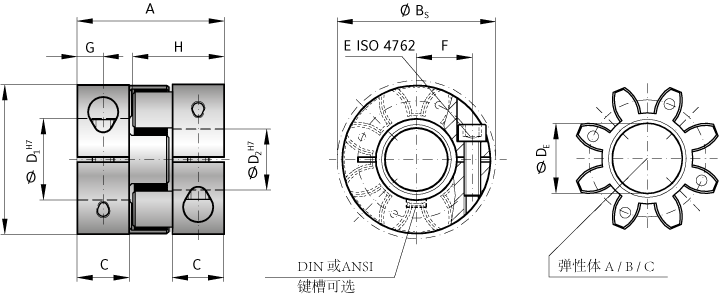 EKL 弹性联轴器带夹紧套环